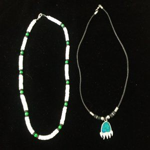 Other - 2 SURF BEACH PUKA & BEAR CLAW NECKLACES